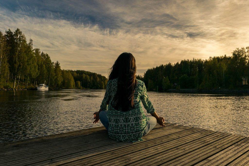 wellness routine through yoga